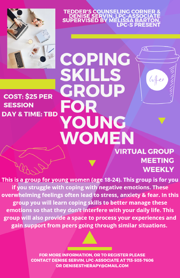 Coping skills young adult women group